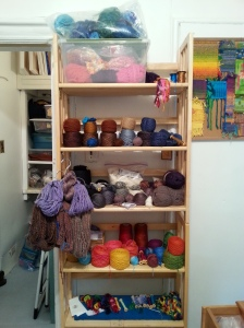 Oct 29 Yarns on tidied shelves