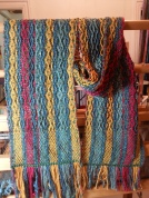 Feb 19 llama silk scarf 06 fresh off the loom