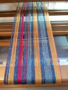 Feb 19 llama silk warp 6 on loom