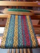 Feb19 llama silk scarf 06 being woven
